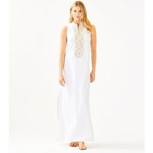 Lilly Pulitzer Timeless Jane maxi dress gown white
